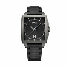 Hugo Boss 1513225 Men's Modern Square Grey Stainless Steel Case Watch - RRP 275