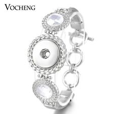 Vocheng Snap Alloy Bracelet Inlaid Crystal Toggle-clasps Fit 18mm Button NN-508