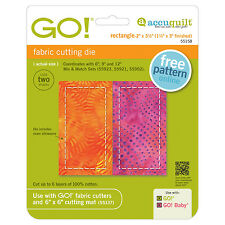 "AccuQuilt GO! & Baby Rectangle-2"" x 3 1/2"" (1 1/2"" x 3"" Finished)Die 55158 Quilt"