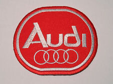 MOTORSPORTS MOTOR RACING SEW ON / IRON ON PATCH:- AUDI (b) RED OVAL RINGS