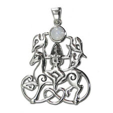 Horse Goddess Rhiannon Epona Pendant Moonstone with Chain by Dryad #TP1625RM
