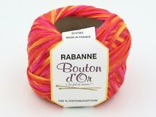 5 Balls of Laines Bouton d'Or Rabanne Tape Yarn Color 463