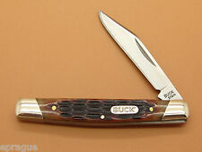 BUCK 379 SOLO SINGLE BLADE BROWN BONE HANDLE PEN SMALL FOLDING POCKET KNIFE ~NEW