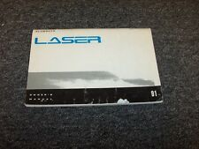 1991 Plymouth Laser Hatchback Original Owner's Owner Guide Manual RS 1.8L 2.0L
