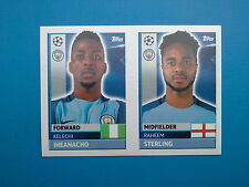 Topps Champions League 2016-17 QFG 13 QFG 14 Sterling Iheanacho Manchester City