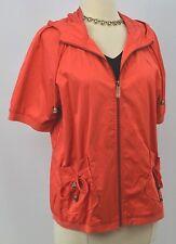 Chicos Zenergy light Jacket zip coat hooded top coral hoodie S/S Chico 1 S M NEW
