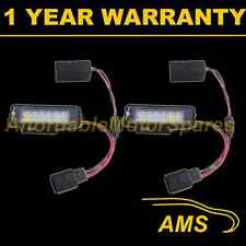 2X FOR VOLKSWAGEN GOLF BEETLE SCIROCCO 18 WHITE LED NUMBER PLATE LIGHT LAMPS