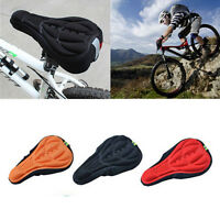 Gel Cycling Bicycle Silicone Bike Saddle Cushion Cover NEW Pad Soft 3D Pad Seat