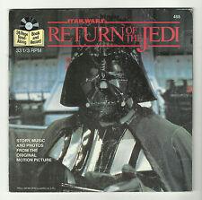 STAR WARS RETURN OF THE JEDI  Buena Vista {1983} BOOK AND RECORD 45