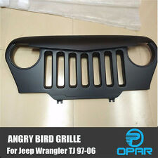 USA Angry Bird Front Matte Grill Grille Black For 1997-2006 Jeep Wrangler TJ