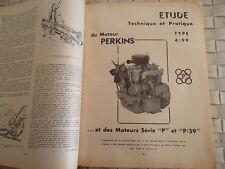 REVUE TECHNIQUE MOTEUR PERKINS TYPE 4/99 ET MOTEURS SERIE P et P/59