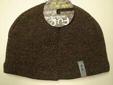 FU-R Headwear - Adults N.E. Solid Fleece Lined Ragg Wool Beanie Hat Cap Earth