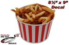 Chili Fries 8.5''x9'' Decal for Hot Dog Stand Concession Trailer Sign or Banner