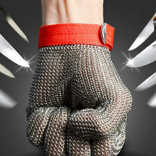 Safety Cut Proof Stab Resistant Stainless Steel Metal Mesh Butcher Glove Size M