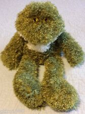 Animal Adventure Dark Green Off White Floppy Curly Shaggy FROG Stuffed Animal