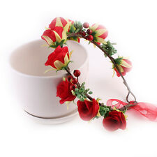 Cute Girl Baby Kids Rose Wreath Wedding Hair band Birthday Party Floral Headband