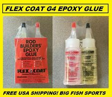 FLEX COAT Rod Builders Epoxy 4 Ounce 2 Part #G4 FREE USA SHIPPING!