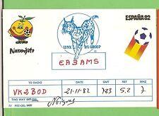 #N. QSL CARD RADIO CONTACT CARD - EA3AMS, NARANJITO, SPAIN, SOCCER WORLD CUP