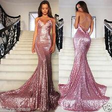 Sequined Long Evening Formal Dress 2016 Sexy Mermaid Pageant Party Prom Gowns