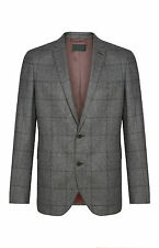 MENS ITALIAN SUIT GREY CHECK JACKET VINTAGE SLIM FIT GENUINE BNWT 40R PRIMARK