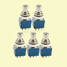 5PCS 3PDT 9-Pin Guitar Effects Stomp Foot Switch True Bypass Full Metal SB CC