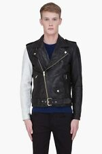 $3k Marc Jacobs Black Leather Biker Jacket Perfecto Rider Balmain Hedi 48 50 M L