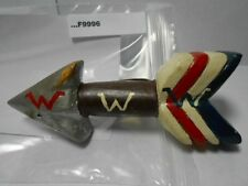 WOODEN O.A. NECKERCHIEF SLIDE W/METAL RING (1950'S) F9996