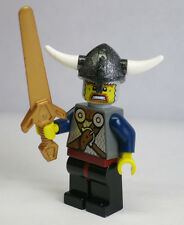 Viking Warrior Horn Helmet Sword 7020 Castle Lego Minifigure Mini Figure Fig