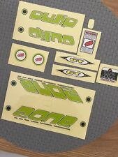 NOS GT DYNO ZONE DECALS BMX MIDSCHOOL ORIGINALS Cycle Design RARE