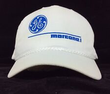 GE General Electric Marcone Dot Com White Baseball Cap Hat Snapback Fits Most