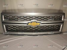 23235958 OEM GM Silver Grille with Black Mesh Fits 2014 2015 Silverado 1500