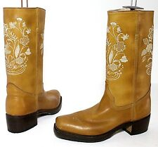 R.Soles By Judy Rothchild Tony Mora Size UK 7 Unworn Tan Leather Square Toe Boot