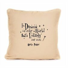 Harry Potter Inspired Cushion Quote Dreams We Enter A World Great Home Gift Idea