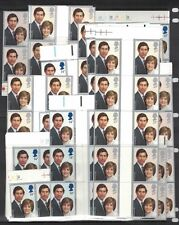1981 Great Britain, 122 Sets of the Royal Wedding Diana and Charles Stamps MNH