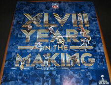 NFL Collectible Super Bowl XLVIII Rings Metlife Stadium 22 x 24 Poster