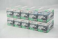 New 10 Rolls of Agfa APX 400 135-36 Black & White Professional Film Exp 04/18