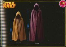"Jedi Robe Cloak Cowl Star Wars Costume Cosplay 40"" Kids 55"" Adult"