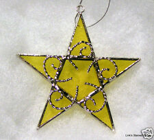 Stained Glass Handmade Gold (Yellow) Star ornament sun catcher
