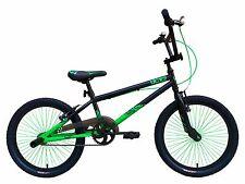 """TIGER UCX2 Frame Hi Tensile BMX BIKES 20"""" WHEEL Black/Green"""