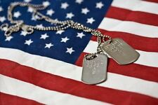 Genuine Military Issue Identification Dog Tags Army Navy USMC Marine Air Force 3
