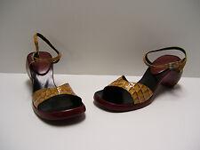 Charles Jourdan Womens Shoes Sz 6 M Heels Open Toe Red Sandal Dress Casual