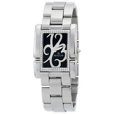 Milus Ladies Apiana Black Dial Diamond Ladies Watch APIS01SS
