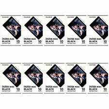 10 Packs 100 Photos Black Frame FujiFilm Fuji Instax Mini Film Polaroid 7S SP-1