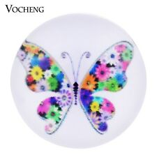 Vocheng 18mm Colorful Butterfly Resin Snap Button Vn-532