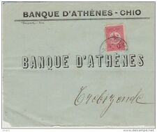 Turkey Ottoman emp. occ. Greece Chio - cover FRONT only canc. CHIO