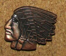 A10 INDIAN PIN CHEF BRONZE NICE PINS COLLECTORS QUALITY LIMITÉE PARIS