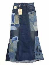 RALPH LAUREN DENIM & SUPPLY DISTRESSED PATCHWORK STRETCH DENIM SKIRT SIZE 27 $22