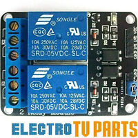 2-Channel 5V Relay 10A Module Board Opto Isolated Arduino Raspberry Pi