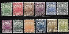 Newfoundland sc#115-#126 mint 1911 compl Trail of the Caribou Issue vlh og f/vf
