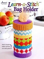 """Learn-A-Stitch Bag Holder"" Plastic Canvas Leaflet - Teaches 7 Pattern Stitches!"